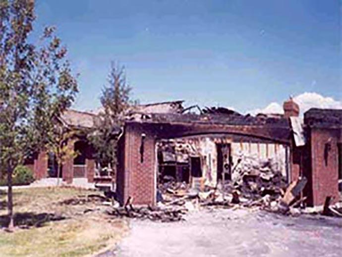 Fire Damaged Home in Southeast Idaho
