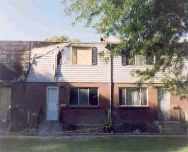 Burned Condominiums before restoration