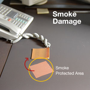 A smoke damage home