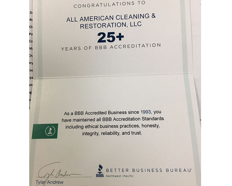 BBB 25 Year Recognition